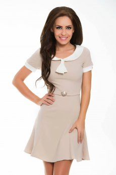 PrettyGirl Useful Cream Dress