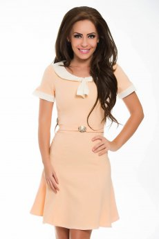 PrettyGirl Useful Peach Dress