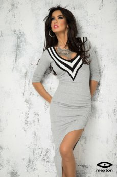 Mexton Distinct Cut Grey Dress