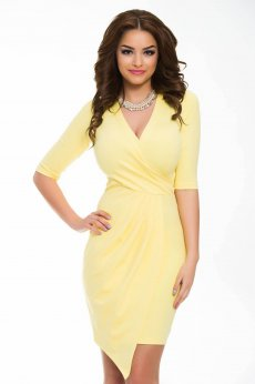 Rochie Artista Bold Cleavage Yellow