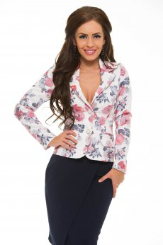LaDonna Natural Flowers White Jacket