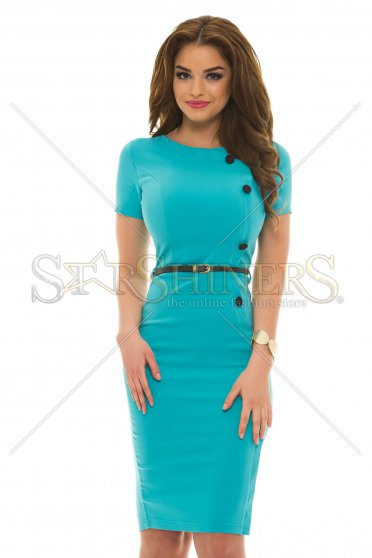 Rochie Artista Classy Buttons Turquoise