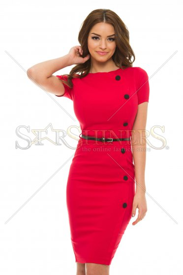 Rochie Artista Classy Buttons Red