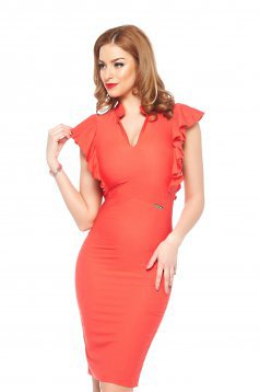 PrettyGirl Wavy Coral Dress