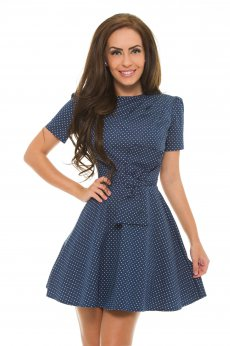 Rochie Artista Returning Dots DarkBlue