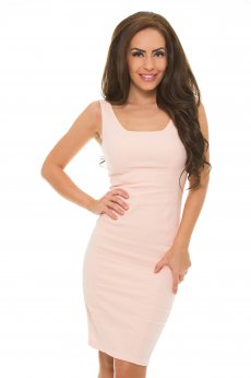 Tented Allure Peach Dress