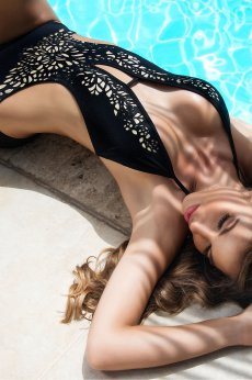 Cosita Linda Tesoro Black Swimsuit