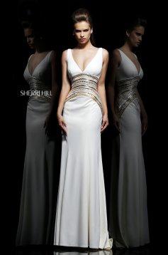Sherri Hill 11104 White Dress