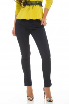 Fofy Straight Action DarkBlue Trousers