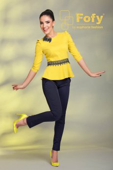 Camasa Fofy Sheer Harmony Yellow
