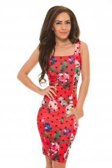 Rochie Artista Flowers Affair Red