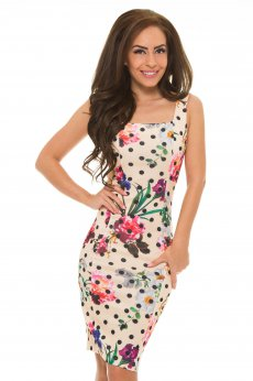 Rochie Artista Flowers Affair Cream