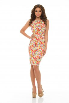 Artista Crowded Nature Coral Dress