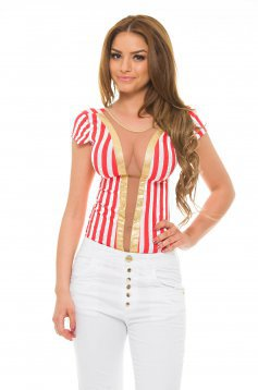 Body MissQ Circus Lines Red