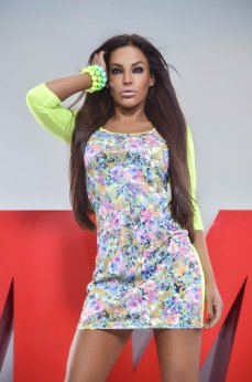 Rochie MissQ Still Nature Yellow