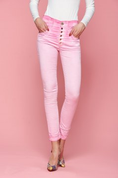 MissQ Lower Hips Pink Trousers