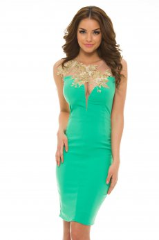 LaDonna Bright Lounge Green Dress