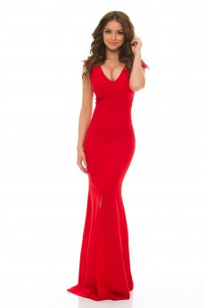 Rochie LaDonna Classy Shoulders Red
