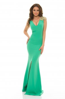 Rochie LaDonna Classy Shoulders Green