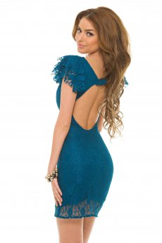 Rochie PrettyGirl Laced Light Turquoise