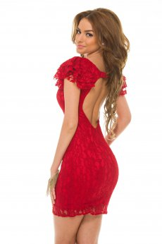 Rochie PrettyGirl Laced Light Red