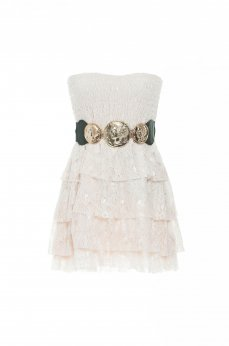 PrettyGirl Insurgent Cream Dress