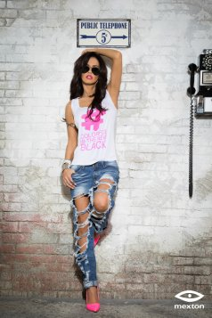 Top Mexton Rebel Design Pink
