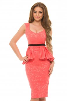 StarShinerS Sumptuous Coral Dress