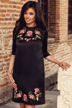 Rochie StarShinerS Brodata Orchid Black