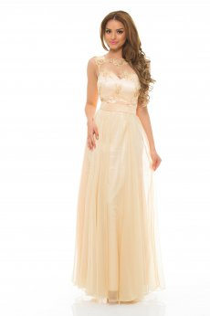 LaDonna Elegance Shades Cream Dress