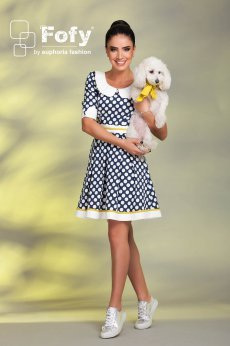 Rochie Fofy Candy Dots DarkBlue
