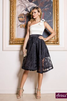 Artista Ardent Butterfly Black Dress