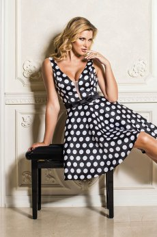 Artista Sensual Dots Black Dress