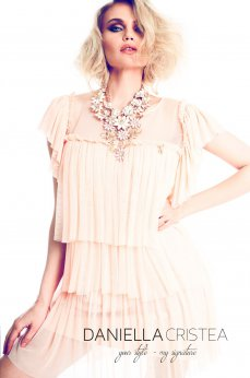 Daniella Cristea New Vision Peach Dress