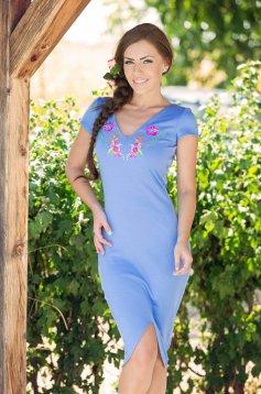Rochie StarShinerS Brodata Paradise Blue