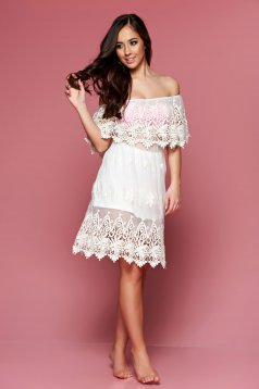 Mexton Pearly Gates Cream Beach Dress