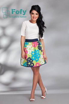 Fofy Unusual Blooms Green Skirt
