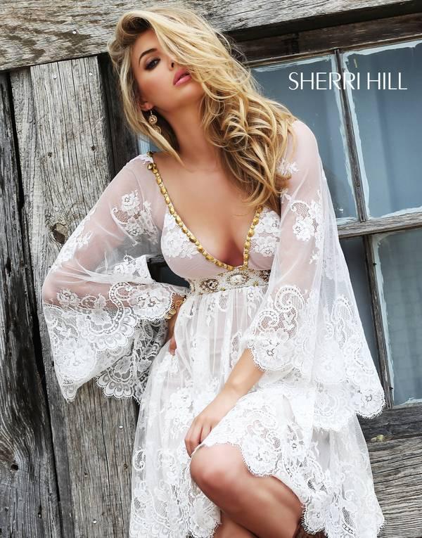 Rochie Sherri Hill 32260 Alb