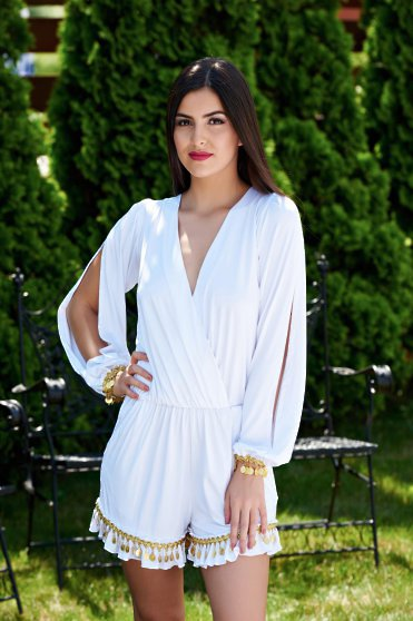 Ocassion Precious Girl White Jumpsuit