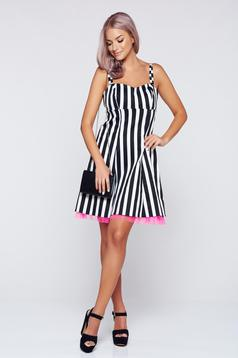 MissQ black dress with braces cloche cloth