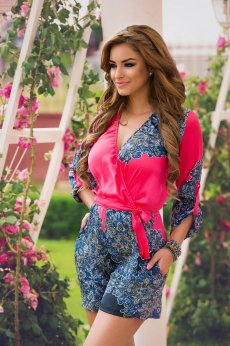 PrettyGirl Chaotic Pink Jumpsuit