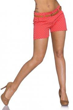 Pantaloni Scurti Summer Dots Coral