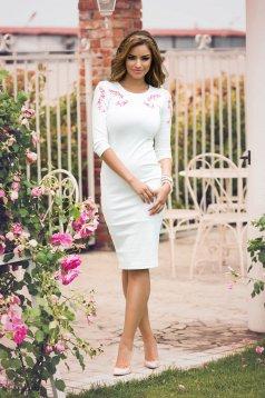 Rochie StarShinerS Brodata Oasis White