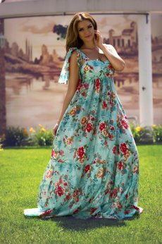 Artista Floral Reason Mint Dress
