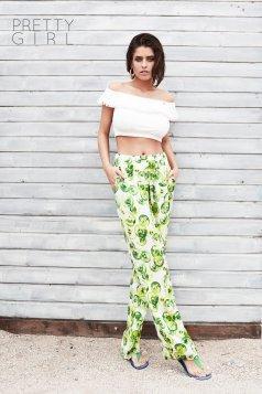 PrettyGirl Dainty Green Trousers
