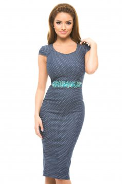 Rochie StarShinerS Spotted DarkBlue