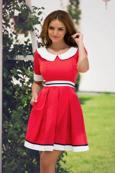 Fofy Romantic Times Red Dress