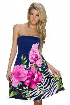 Rochie Gently Flowers Pink