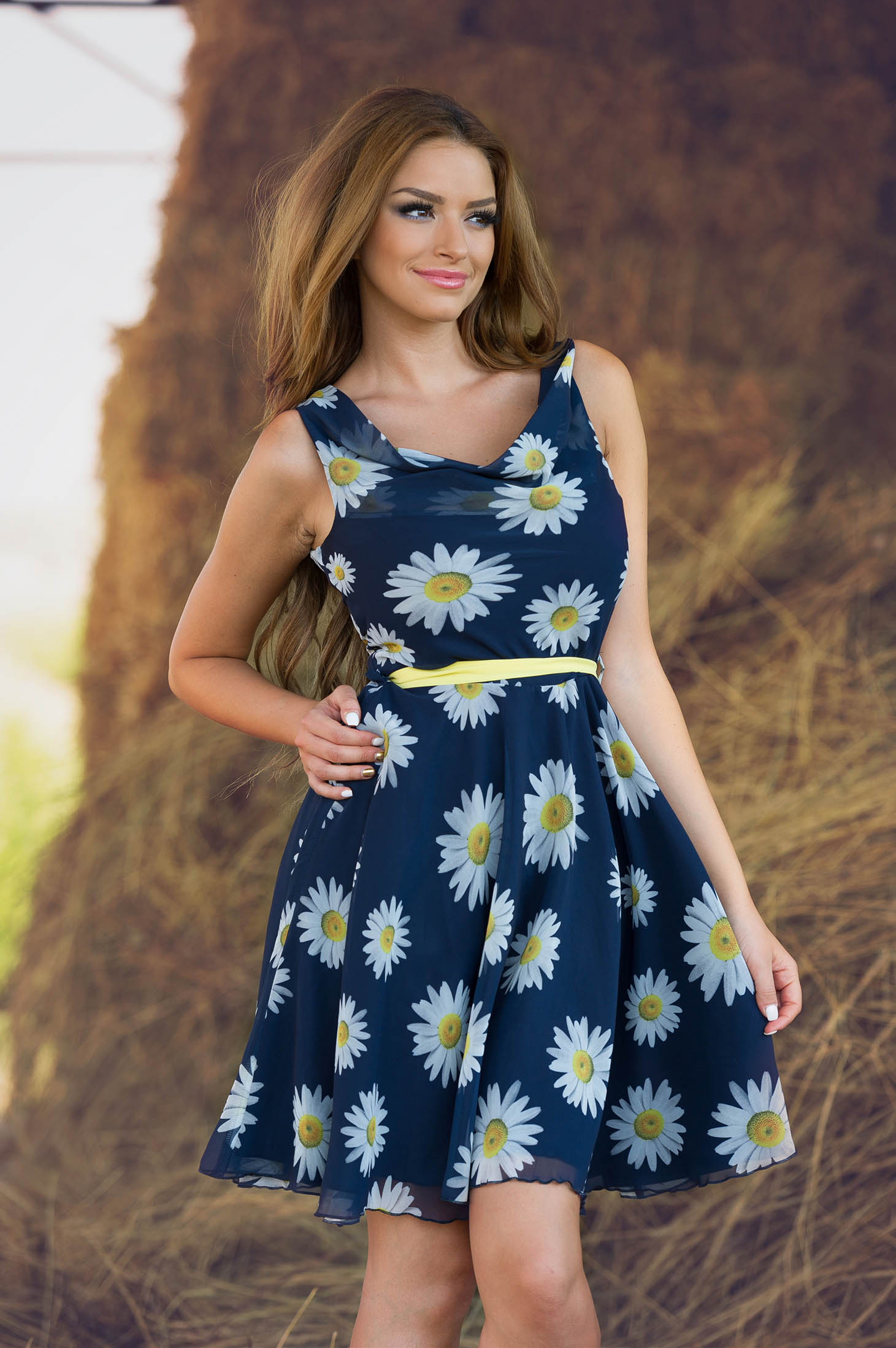 LaDonna Flowers Miracle Yellow Dress