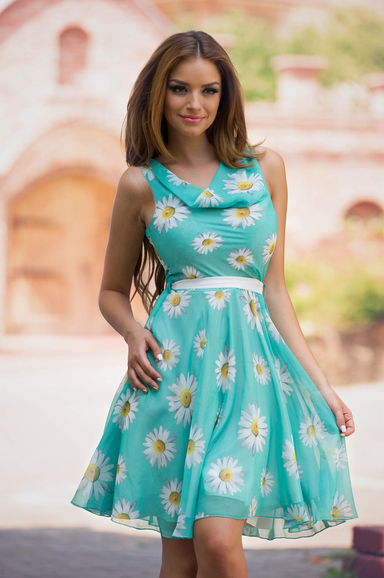 Rochie LaDonna Flowers Miracle Green